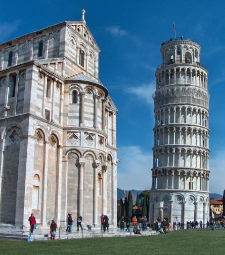 kamperen bij Pisa