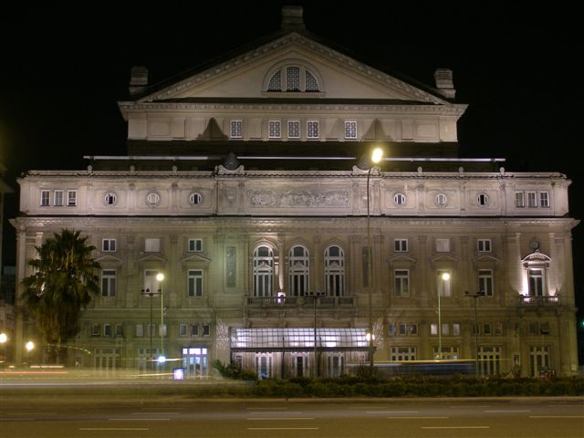 teatro Colon by night, Buenos Aires
