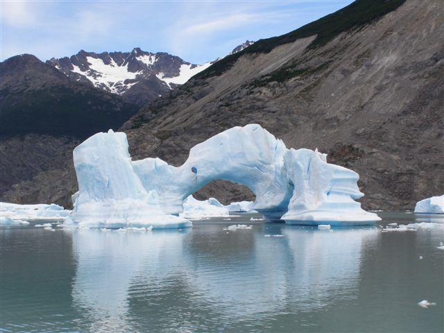 boottocht bij El Calafate, Patagonie