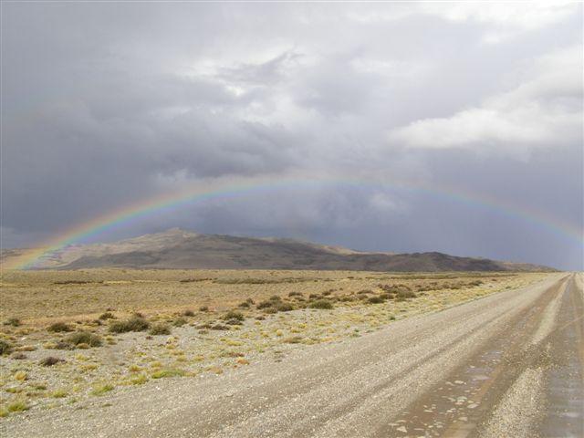 regenboog, route 40, Patagonie
