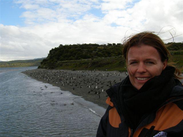 Susanne bij Pinguinera