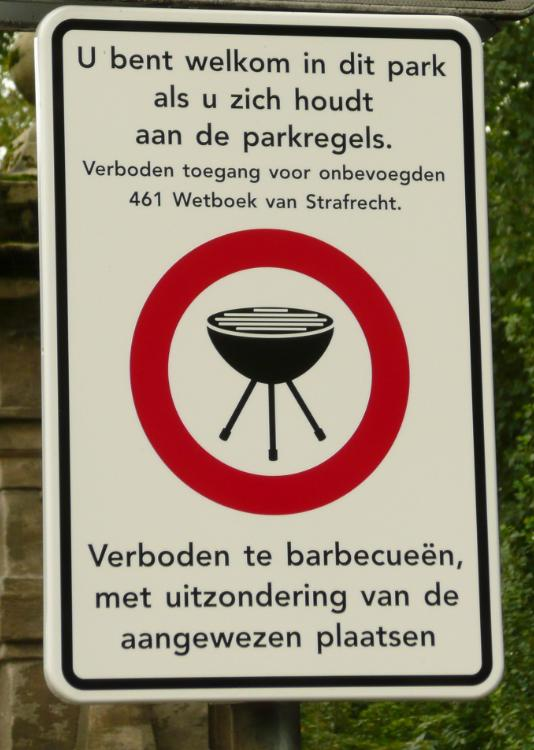 barbecue (BBQ) verbod