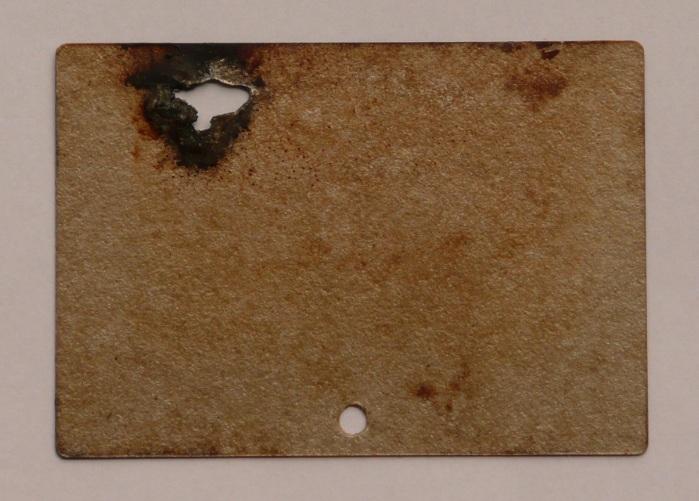 beschadigd micaplaatje van magnetron