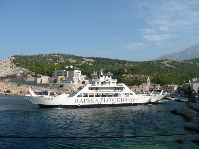 Ferry naar Rab