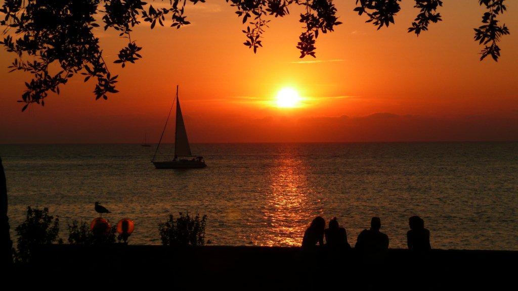 zonsondergang vanuit Porec