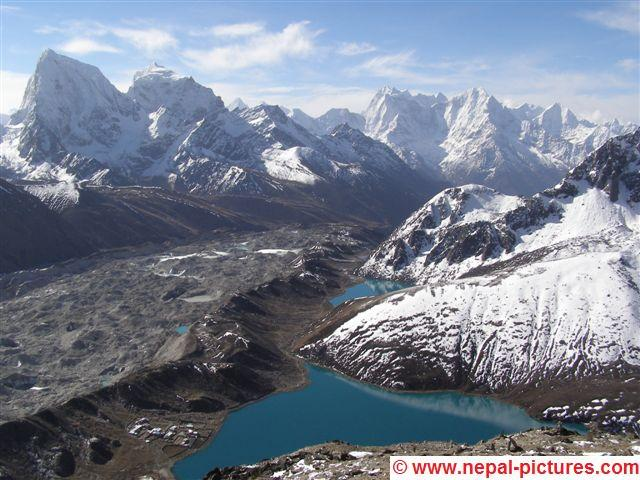 View from Gokyo Ri Everest region Nepal