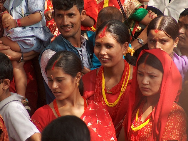Women during Teej Festival