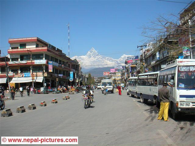 straat in Pokhara