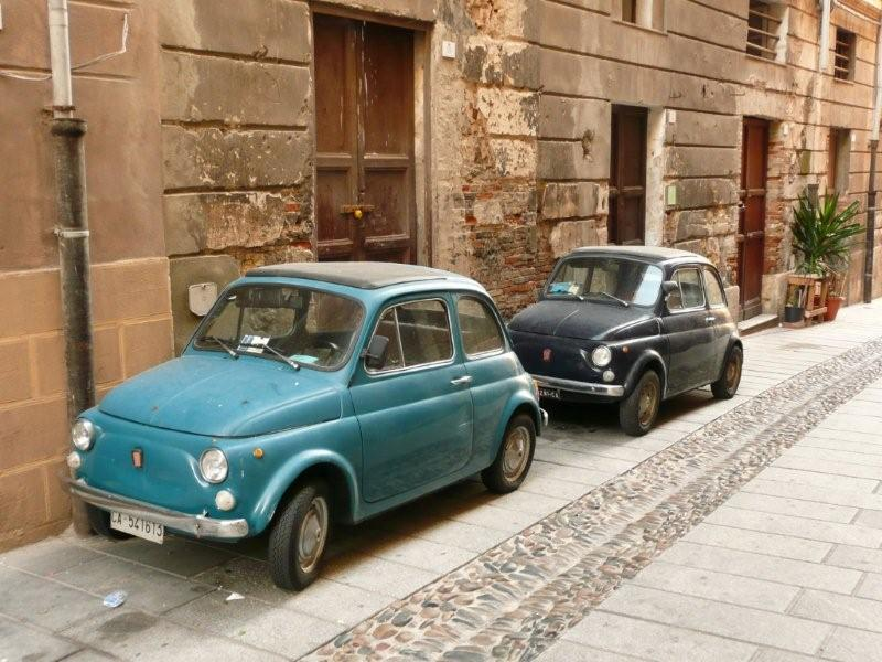 two fiat 500's in Cagliari