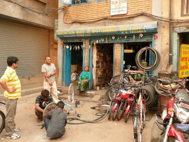 fietsen huren in Kathmandu