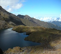 Gosainkund holy lake in Langtang