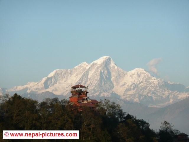 Nagarkot Nepal  city pictures gallery : Close up mountain view from Nagarkot, Nepal