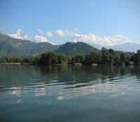 Pokhara and Machhapuchhre mountain