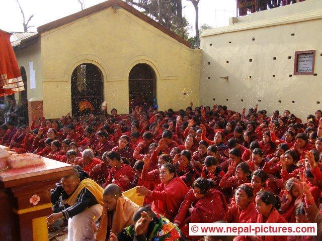 Holi festival near Basantapur Kathmandu