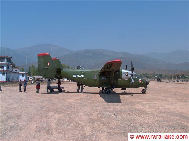 Army plane, Surkhet airport
