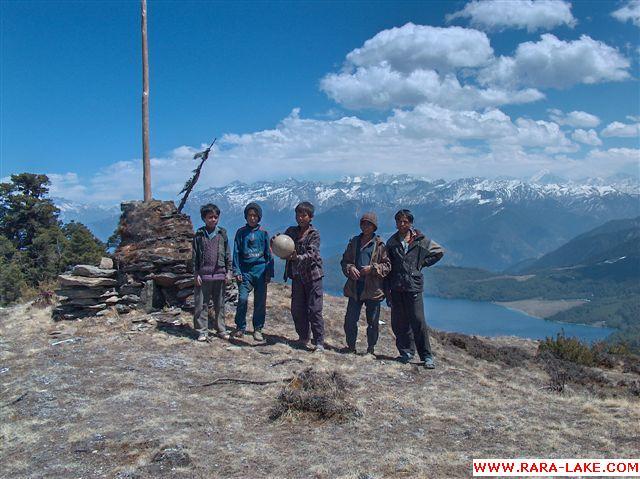 Nepali boys at Murma top