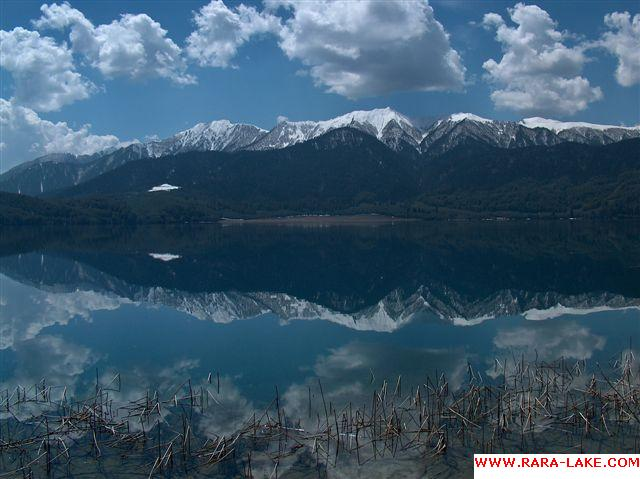 rara lake with clouds