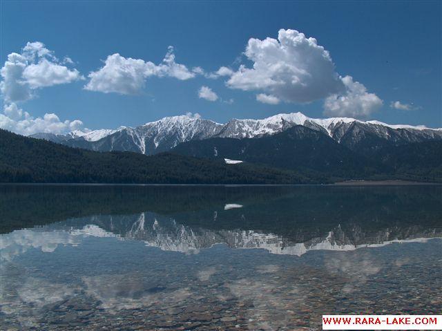 Rara Lake Reflecting As A Mirror