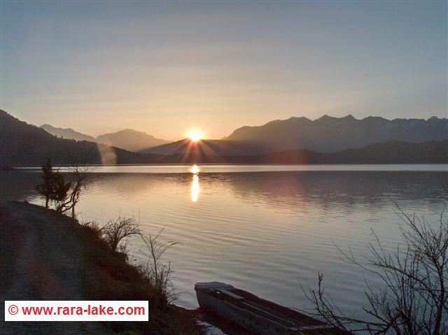 sunrise at Rara lake