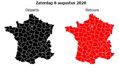 verkeersdrukte Frankrijk zomer