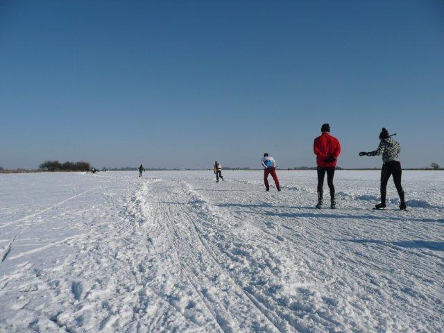 schaatsen op natuurijs in Waterland bij Amsterdam